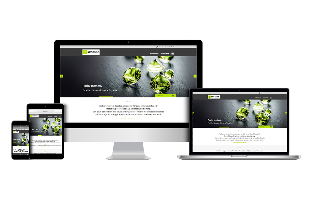 sesotec new responsive website